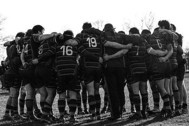 équipe de rugby rassemblement